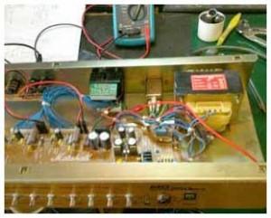 inside guitar amp